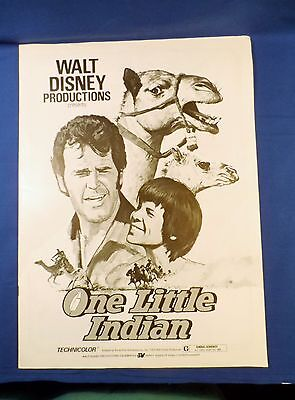 Vintage 1973 Disney One Little Indian with Ad Pad Press Kit Campaign Book RARE!