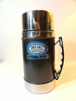 Uno-Vac Thermos Unbreakable Stainless Steel Polyurethane Insulated Wide Mouth