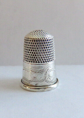 Antique Sterling Silver Tall Dome Top Thimble