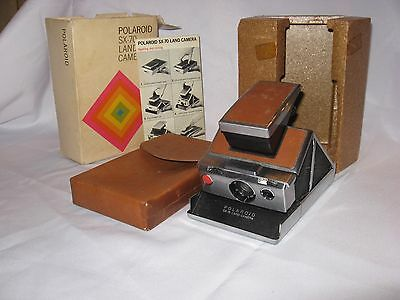 Vintage Polaroid SX-70 Land Camera With Leather Carrying Case