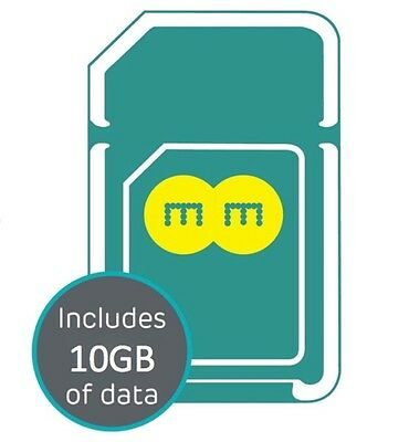EE 4G Pay As You Go Trio SIM Card With 10GB Data Valid for 30 Days.