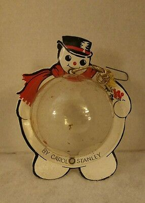 Carol Stanley Xmas Ornament Advertising Collectable Hankie/Scarf Holder Rare!