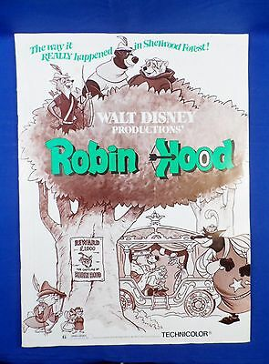 Vintage 1973 Disney Exhibitors Campaign Book Press Kit Robin Hood with Ad Pad