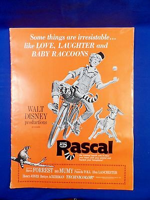 Vintage Disney Rascal Exhibitors Campaign Book Press Kit with Ad Pad RARE!
