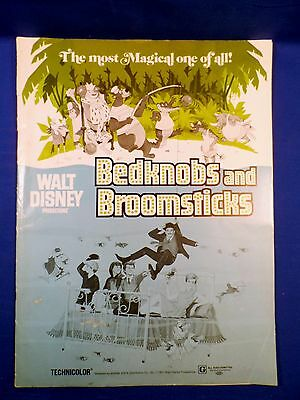 Vintage 1971 Disney Bedknobs and Broomsticks Press Kit Campaign Book with Ad Pad