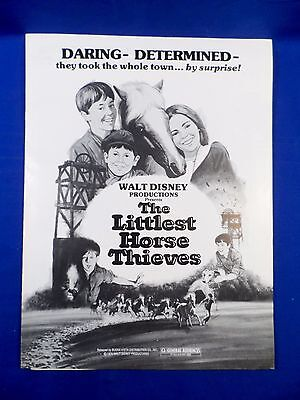 Vintage Disney 1976 Press Kit Littlest Horse Thieves with Ad Pad RARE!