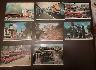 Lot Of 8 London Vintage Postcards Uncirculated  #084