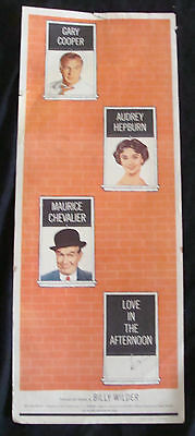 LOVE IN THE AFTERNOON movie poster 1957 INSERT aka FASCINATION