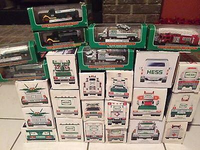 HUGE Lot of 18 Hess Toy Trucks In Boxes Mixed Years + Extras