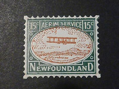 NFLD 15c Aerial Service Roessier Cinderella & write-up article, Pristine MNH