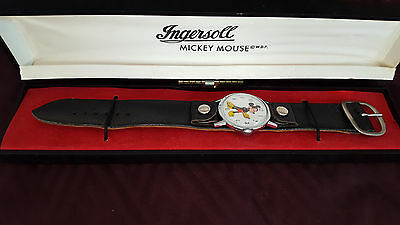 Mickey Mouse Watch-Ingersoll- Manual Wind - Vintage- Gift for Him!