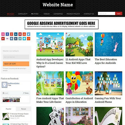 ANDROID GAMES SHOP - Professionally Designed Affiliate Website Business For Sale