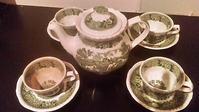 Teapot Set Old English Horses 'adams' Perfect Condition Absolutely Gorgeous