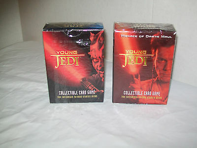 Star Wars Episode 1 Collectible Card Game Starter Deck Lot of 2