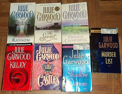 """JULIE GARWOOD """"ROMANCE / THRILLER"""" PAPERBACK COLLECTION - Lot of 7 - Great Reads"""
