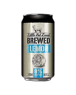 Little Fat Lamb Brewed Lemon Can 375ml case of 30 Cider