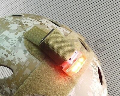 FMA Compact 9V Recuse Signal Strobe for DEVGRU OPS FAST Helmet (RED / TAN)