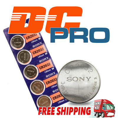 5x Pack SONY CR2032 3v 170mah Lithium Battery Button Cell/Coin for Calculator