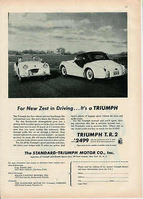 1955 Triumph For A Zest In Driving Ad