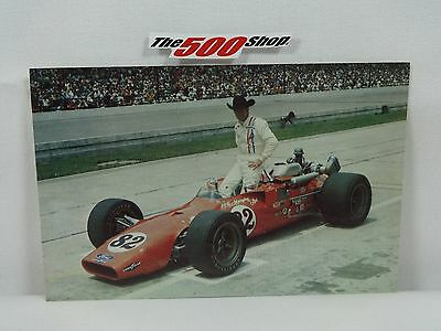 #82 Roger McCluskey 1969 Indianapolis 500 Postcard Out of Print