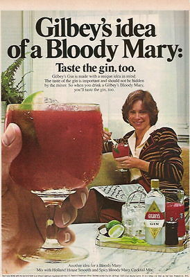 1980 Bloody Mary Made With Gilbey's Gin Ad