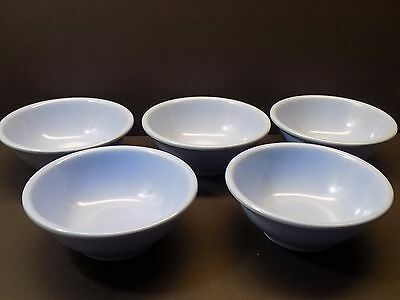 """Vintage BOONTON Periwinkle Blue 6"""" Melmac Cereal or Soup Bowls 5 PC Boontonware"""