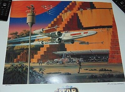 Star Wars micro machines poster  Ralph McQuarrie Art signed and numbered xwing