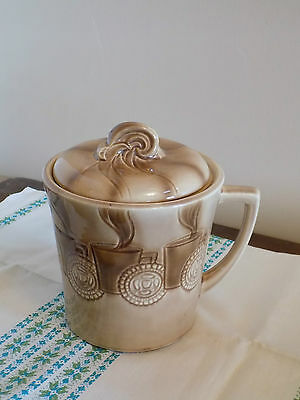 Vintage USA American Bisque Co. HOT LATTE CAPPUCCINO COFFEE CUP Cookie Jar HTF!