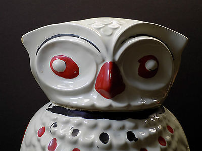Mid Century Modern Vintage TIKI BAR HOOT OWL Cookie Jar Canister American Bisque