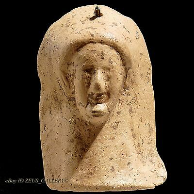 Ancient GREEK Pottery ARCHAIC Kore GODDESS Female Protome 525 BC Terracotta