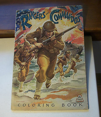 Rangers and Commandos WWII Coloring Book Merrill 1943