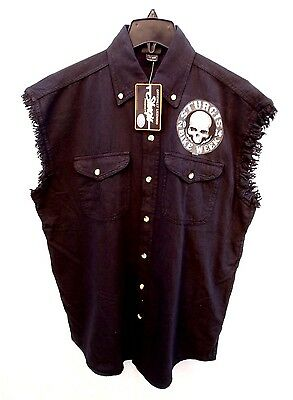 Nwt Mens Official Licensed Sturgis Hot Leathers Black Skull Sleeveless Shirt Xl