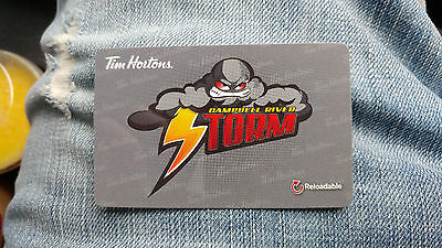 Tim Horton's Gift Card 2016 Campbell River Storm FD52540