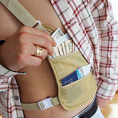 Security Body Pouch Wallet / Hidden Money Passport Wallet Travel Gear