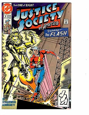 Justice Society Of America #1  Featuring The Flash  Fn/vf