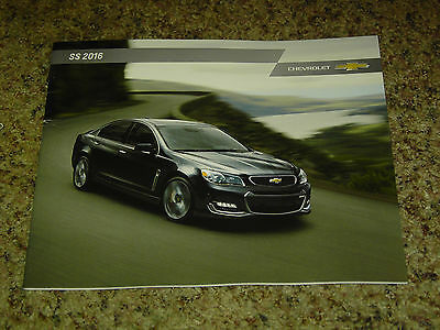 2016 Chevrolet Ss Sales Brochure 24 Pages Nice!