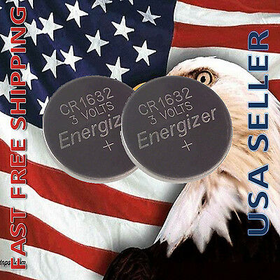 **FRESHLY NEW** 2x Energizer CR1632 Lithium Battery 3V Coin Cell Exp 2024