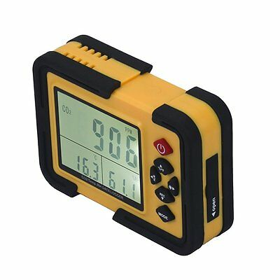 Carbon Dioxide DataLogger Monitor Air Temp Humidity Meter Home Lab Research