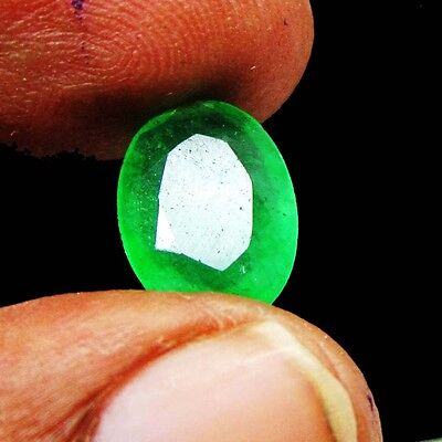 3.55Ct. Natural Certified Oval Colombian Emerald Loose Gemstone stone KS 5411