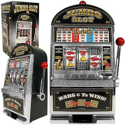 Slot Machine Indoor Game Room Furniture Bank Replication Saving Section Chrome