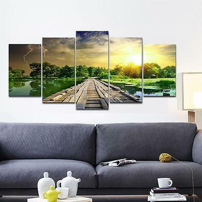 Unframed Modern Large Lake Landscape Canvas Print Picture Wall Art Home Decor