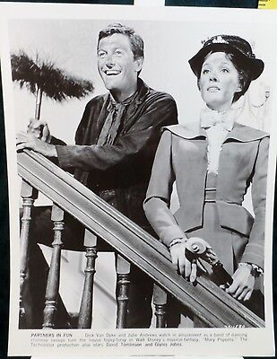"""Disney WDP Production Stills Mary Poppins """"Partners in Fun"""" Black & White Photo"""