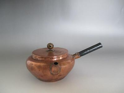 Japanese old copper teapot/ nice style & tasteful handle/ 4472