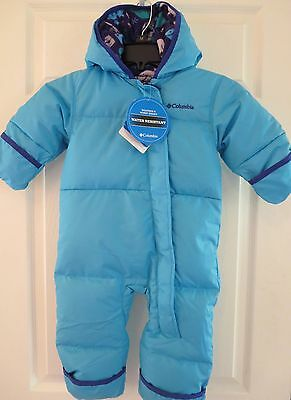 COLUMBIA NWT SNUGGLY BUNNY DOWN SNOWSUIT INFANT (0-3 month) BUNTING JACKET/PANTS