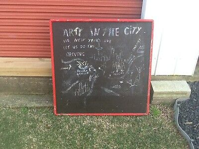 Vintage Chalkboard From Restaurant / Cafe- Very Solid Construction