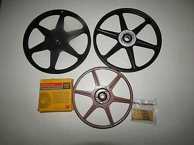 Lot of 4 Vtg Film Reels + Kodak Presstape