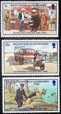 Bailiwick of GUERNSEY  60th Anniversary Guernsey POLICE Set of 3  MH SC# 204-206