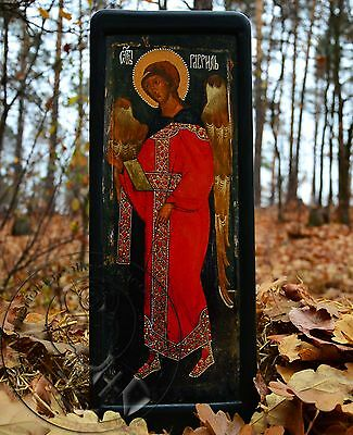 St Gabriel The Archangel Icon Byzantine Gold Plating Art Religious Gift