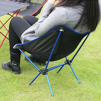 Portable Chair Folding Seat Stool For Fishing Camping Hiking Beach Picnic Blue