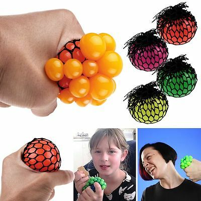 Adult Anti Stressball Relief Squishy Mesh Ball Sensory Fruity Squeeze Fidget Toy
